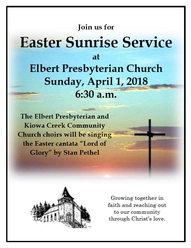Easter Sunrise Service 2018 Flyer